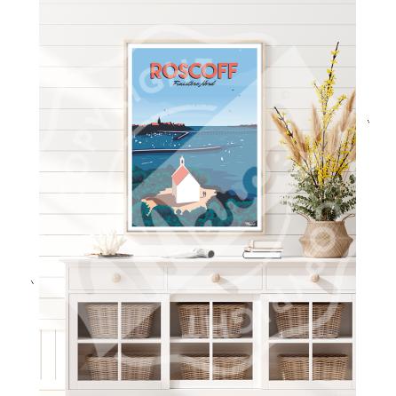 "Affiche ROSCOFF ""Finistère Nord"""