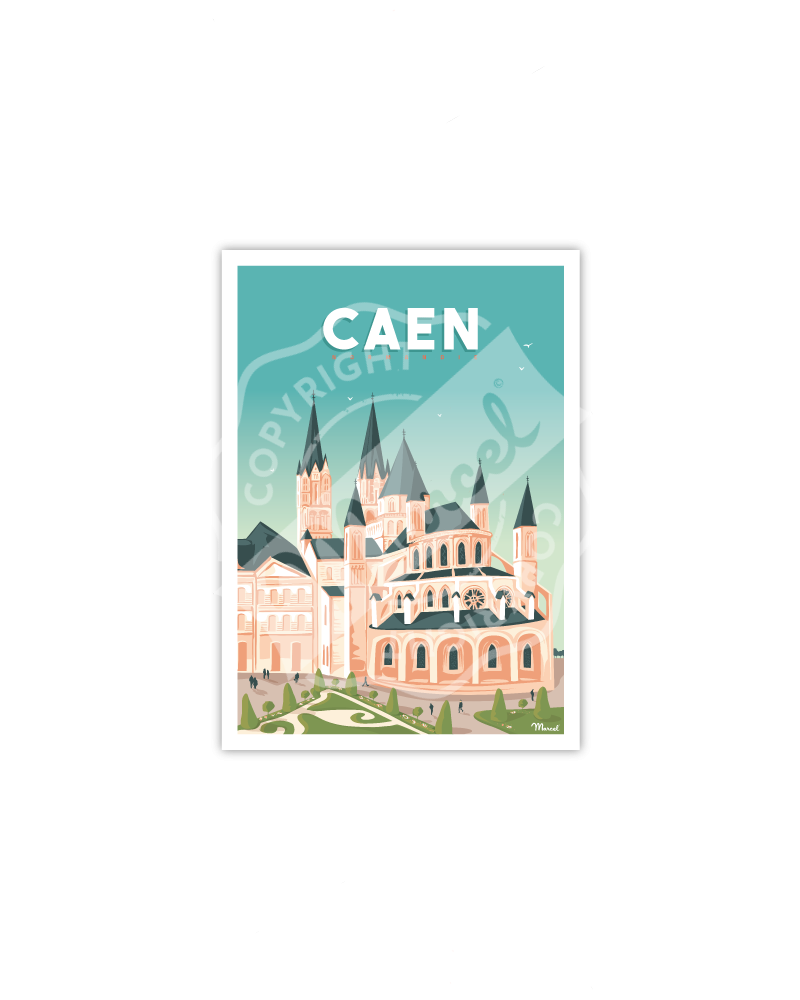 "CAEN ""L'abbaye aux hommes"""