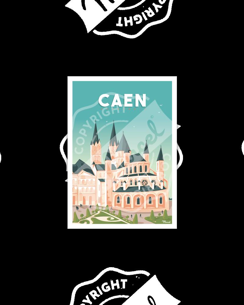 """Postcard CAEN """"L'abbaye aux..."""