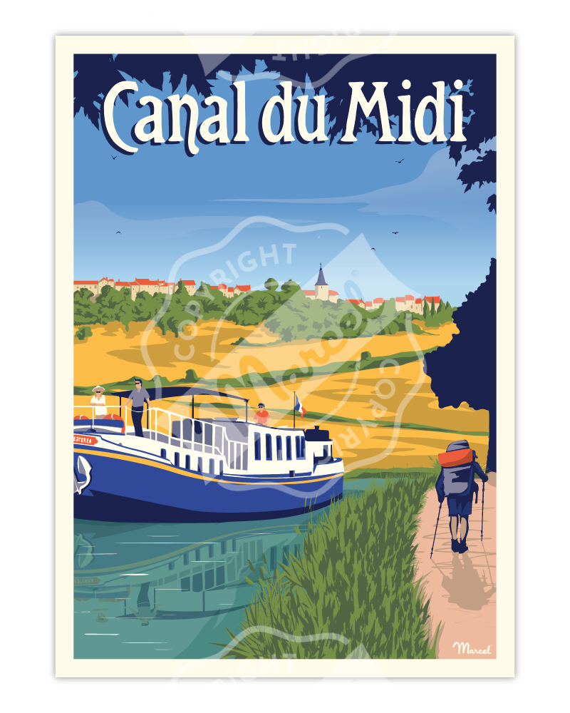 "Poster CANAL DU MIDI ""La..."
