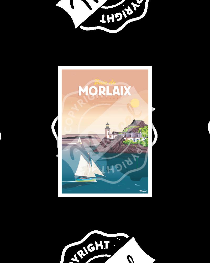 Carte Postale BAIE DE MORLAIX