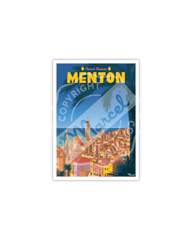Carte Postale MENTON French Riviera