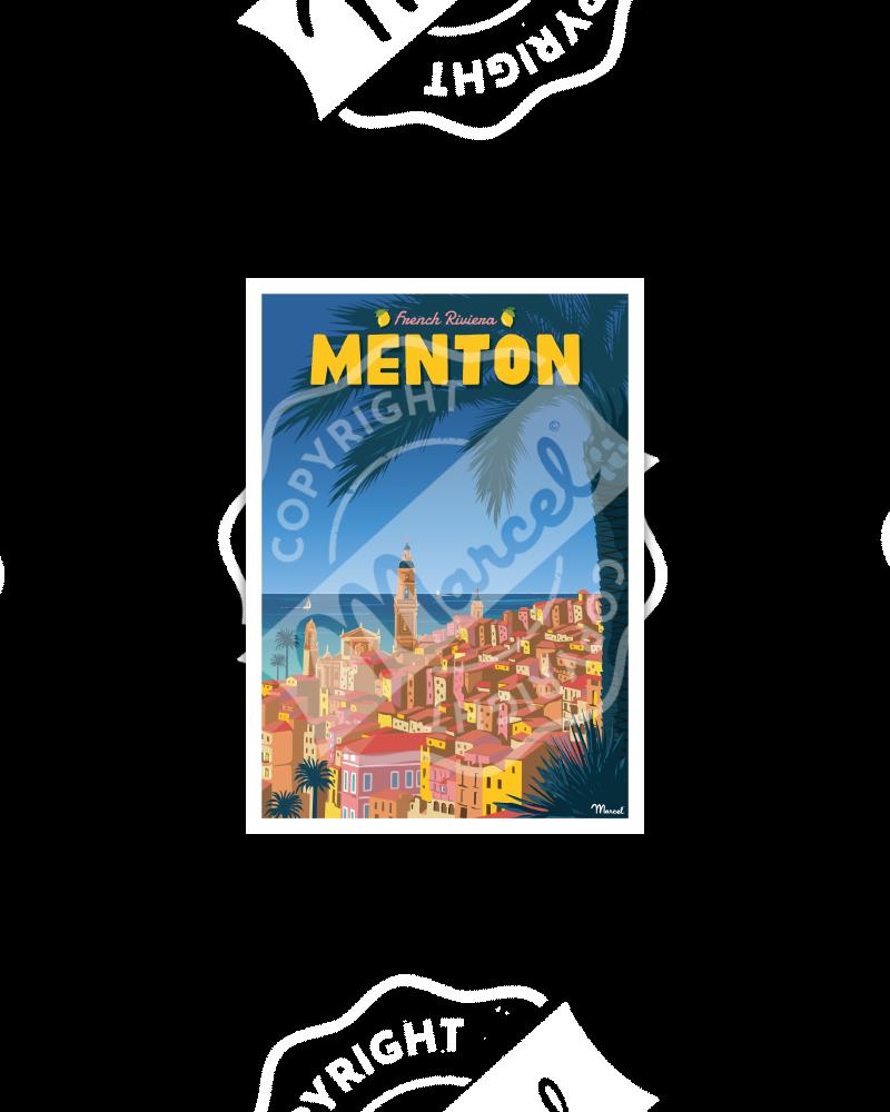 Postcard MENTON French Riviera