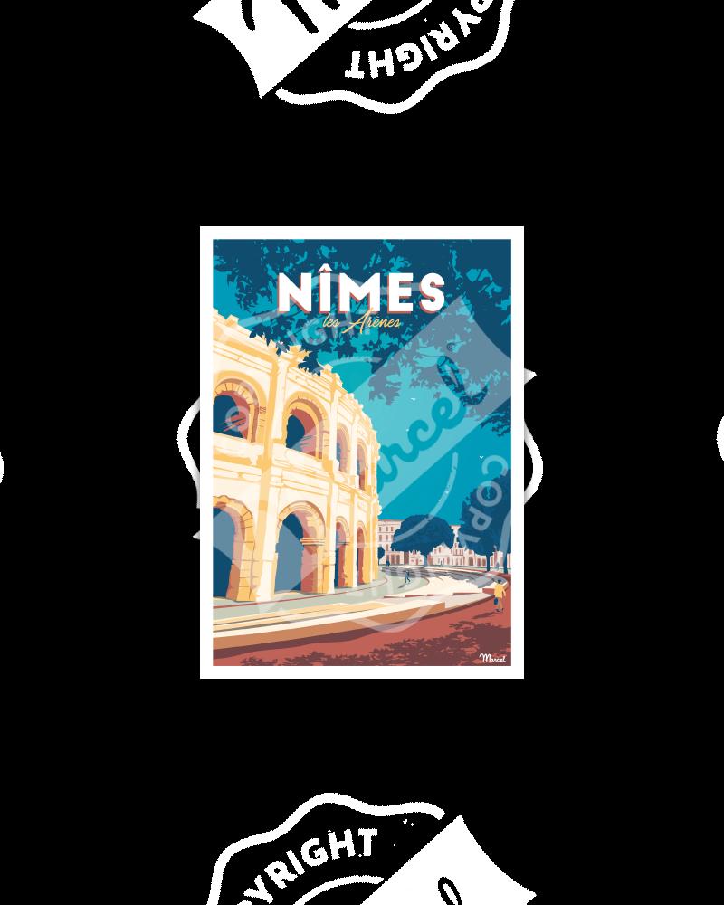 Carte Postale NIMES «Les Arènes»