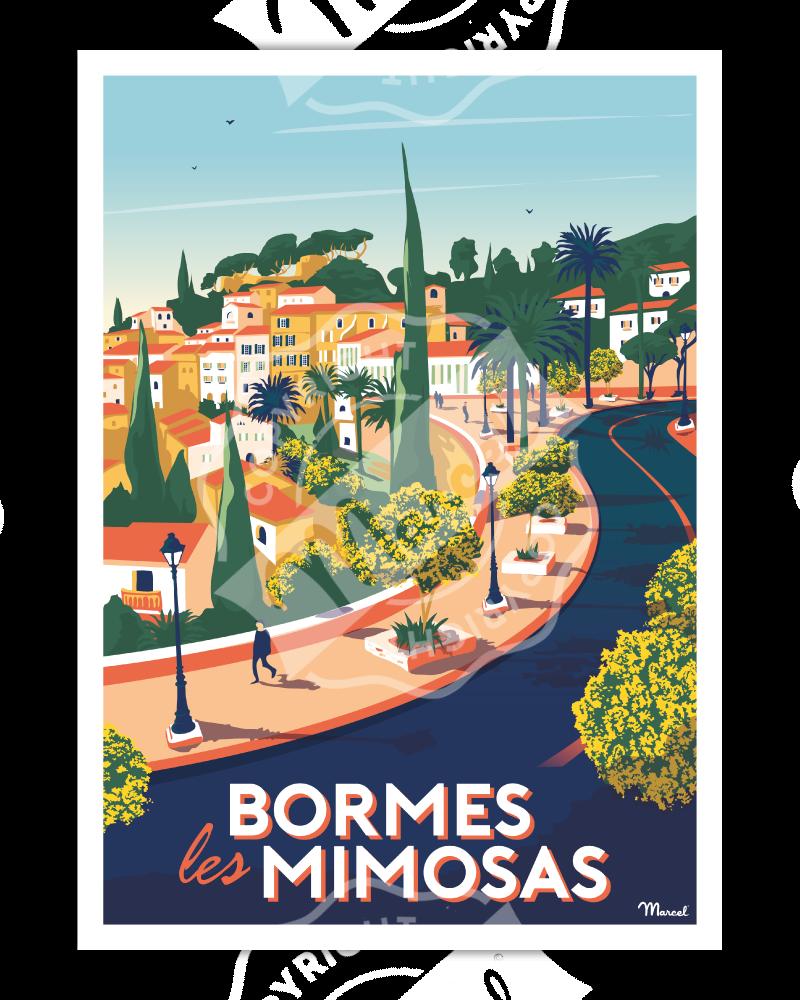 Affiche BORMES-LES-MIMOSAS