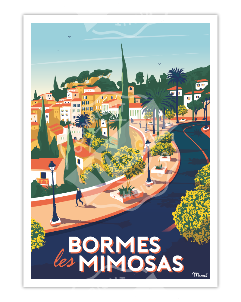 Poster BORMES-LES-MIMOSAS