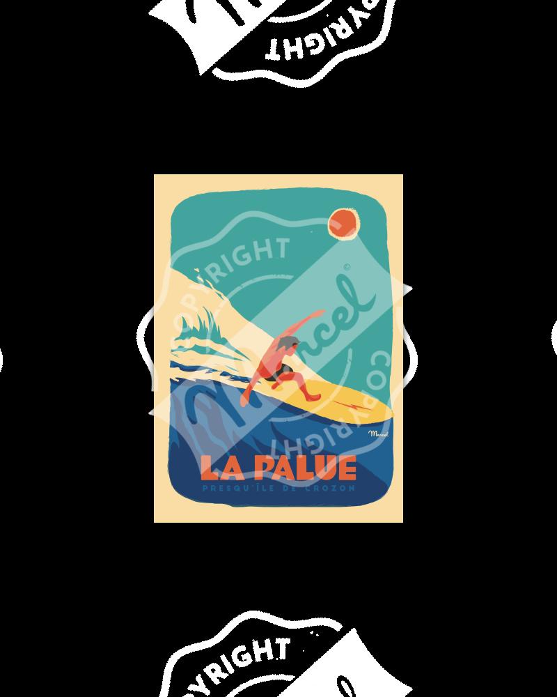 """Carte Postale LA PALUE""""Surfeur """""""