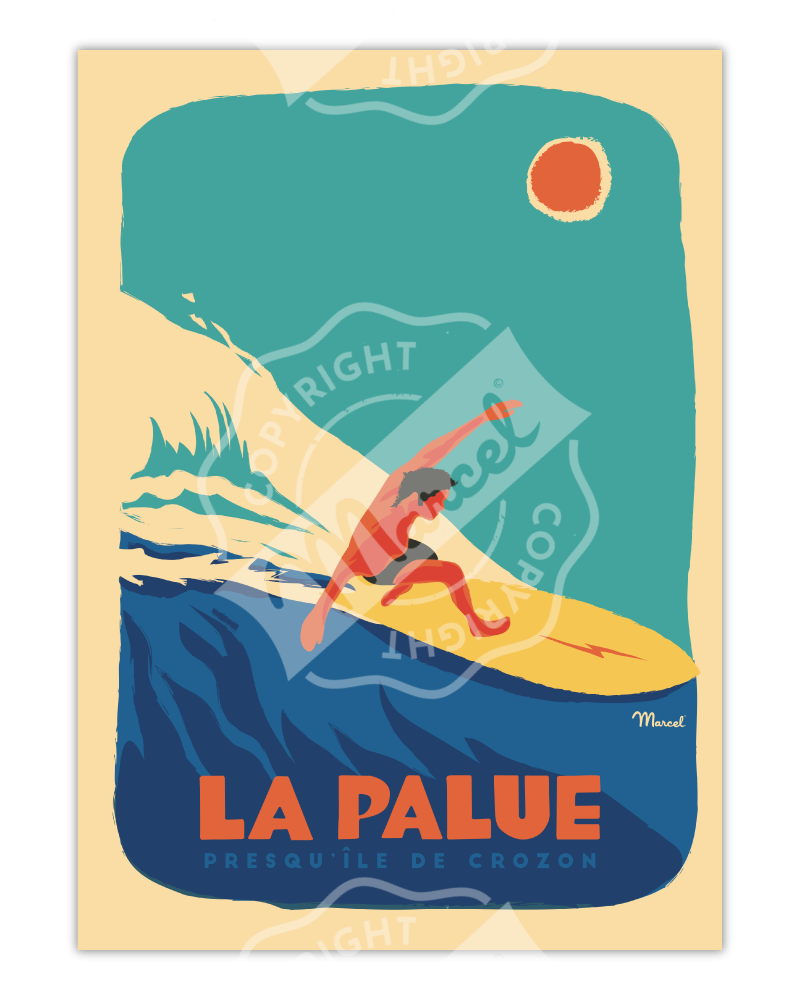 "Affiche LA PALUE ""Surfeur"""