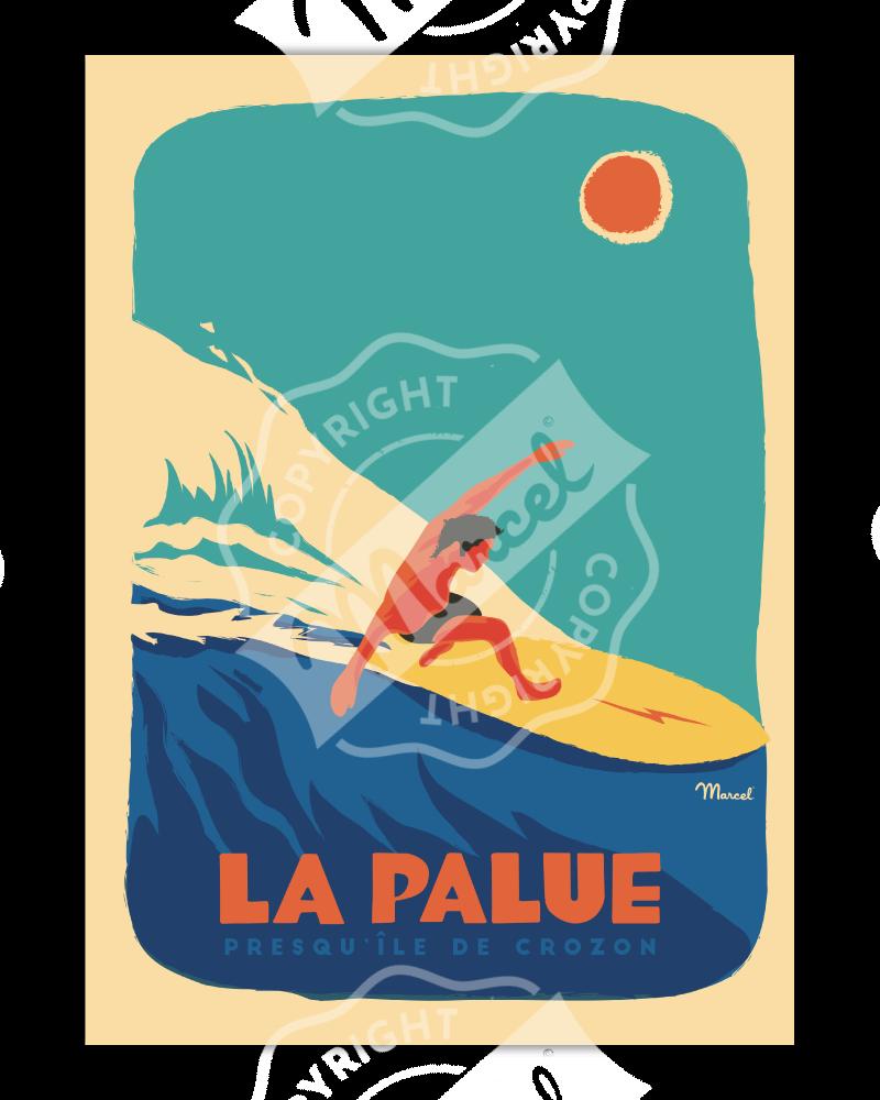 """Affiche LA PALUE """"Surfeur"""""""