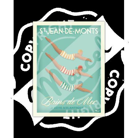 """Affiche Saint-Jean-de-Monts """"Bains de Mer"""""""