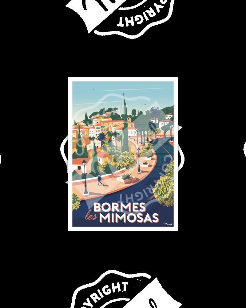 Postcard BORMES-LES-MIMOSAS