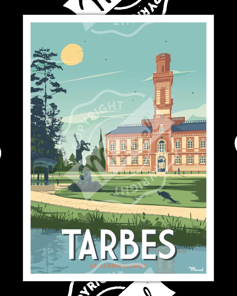 "Affiche TARBES ""Le Jardin Massey"""