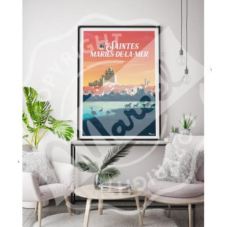 Affiche LES SAINTES-MARIES-DE-LA-MER