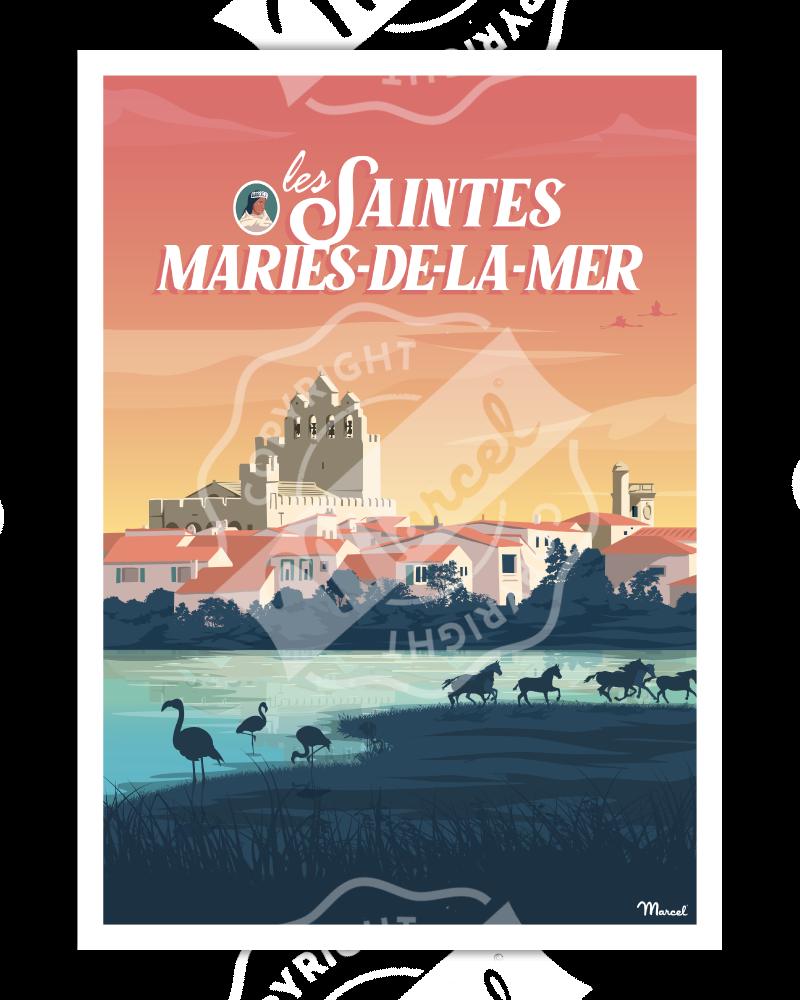 Poster LES SAINTES-MARIES-DE-LA-MER