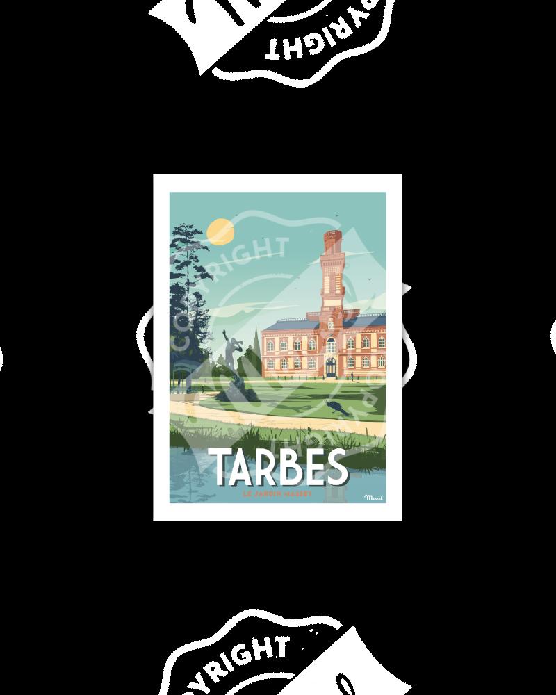 "Postcard TARBES "" Le Jardin Massey"""