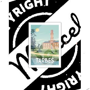 "Carte Postale TARBES "" Le Jardin Massey"""