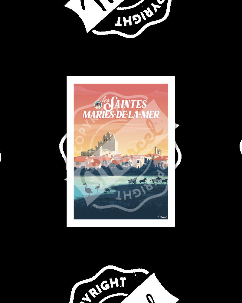 Carte Postale LES SAINTES-MARIES-DE-LA-MER