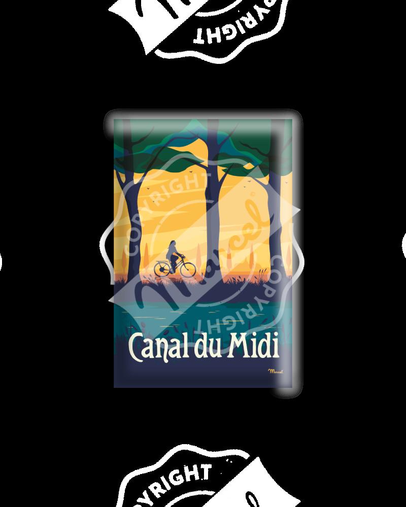"MAGNET CANAL DU MIDI ""LE VELO"""