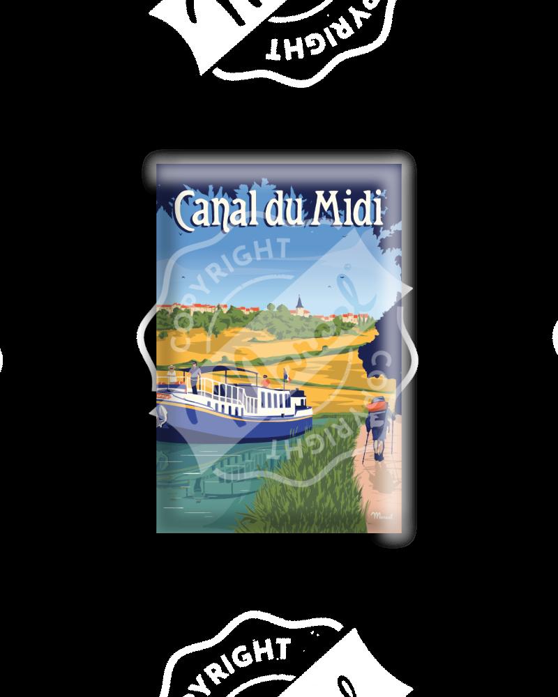 """MAGNET CANAL DU MIDI """"LA RANDONNÉE"""""""