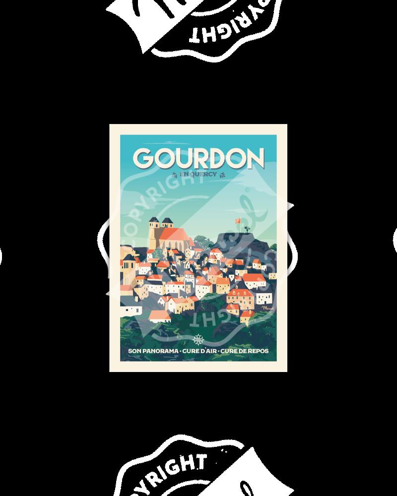 Carte Postale GOURDON