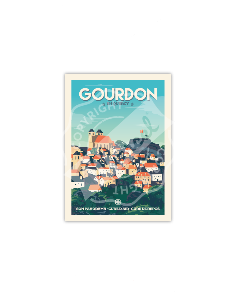 Postcard GOURDON