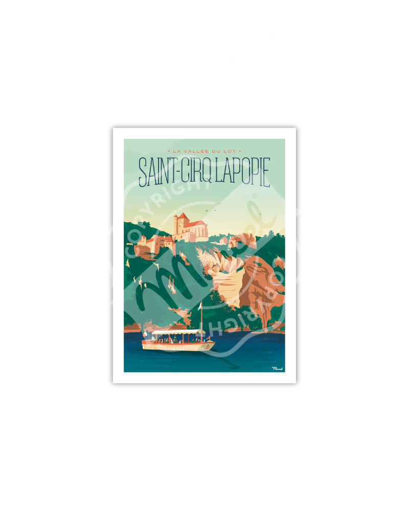 Postcard ST CIRQ LAPOPIE