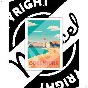 """Carte Postale  COLLIOURE """"Côte Vermeille"""" A5"""