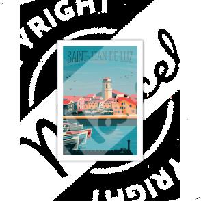 """Postcard SAINT-JEAN-DE-LUZ """"Le Port"""" A5"""