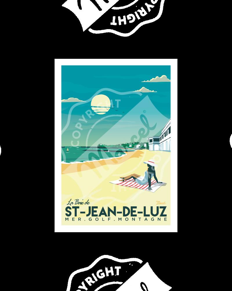 """Postcard SAINT-JEAN-DE-LUZ """"La Baie"""" A5"""
