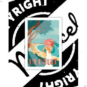 Carte Postale LA BAULE  A5