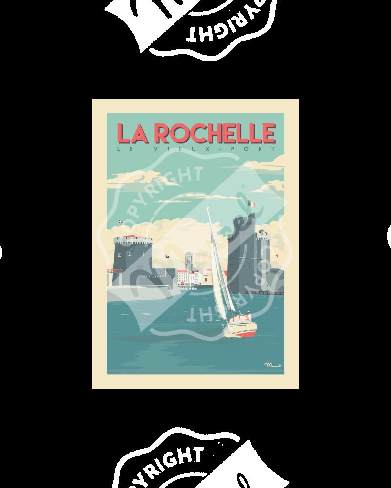 Carte Postale LA ROCHELLE «Vieux-Port» A5
