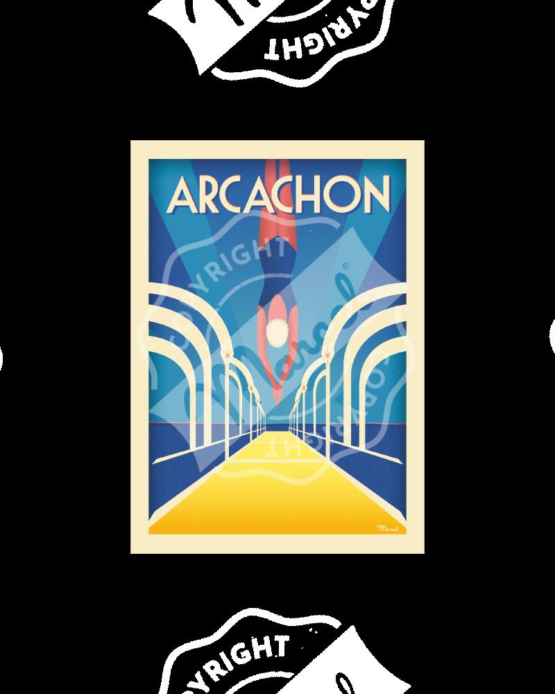 """Carte Postale ARCACHON  """"Jetée Thiers """" A5"""
