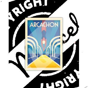 """Postcard ARCACHON  """"Jetée Thiers """" A5"""