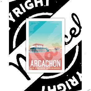 """Carte Postale ARCACHON  """"Les Cabanes""""   A5"""