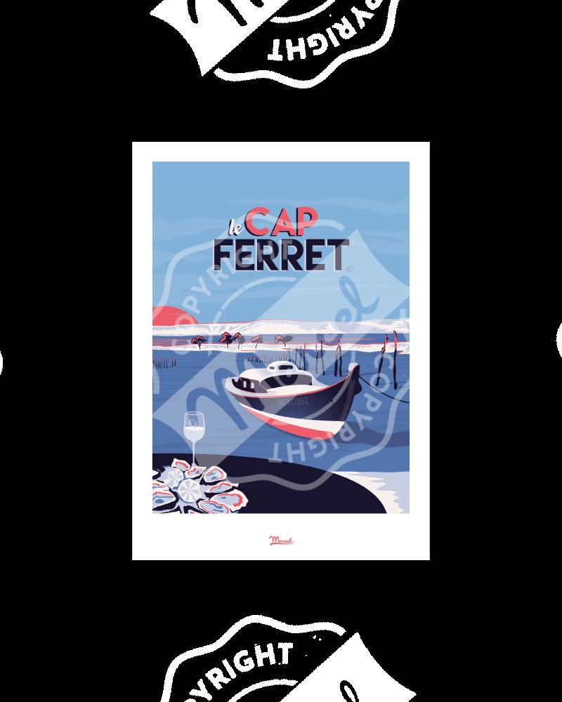 """Carte Postale CAP FERRET """"Le Mimbeau"""" A5"""