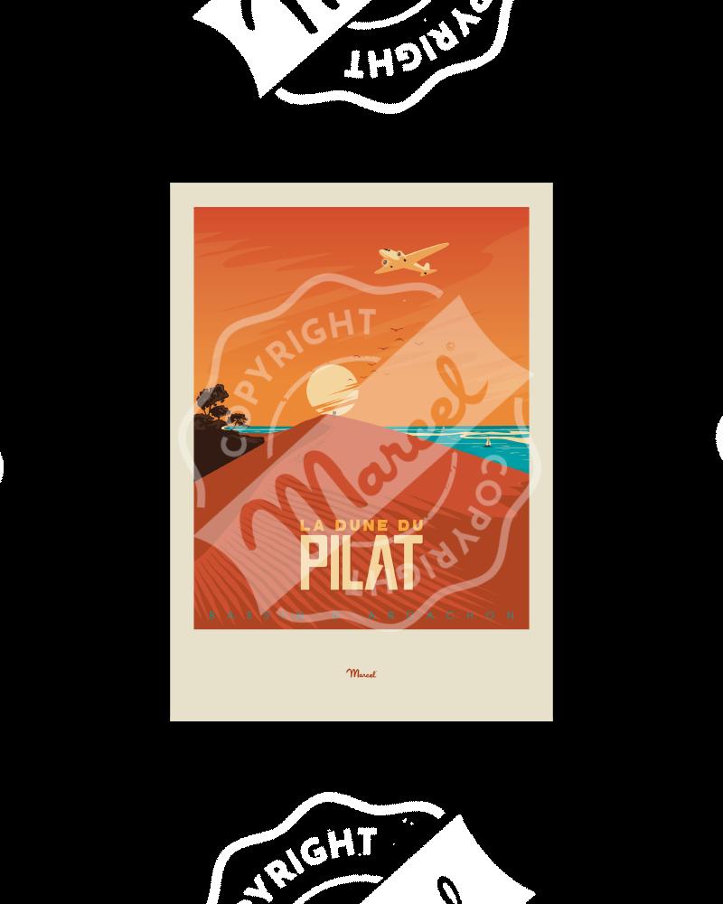 """Carte Postale BASSIN D'ARCACHON """"Dune du Pilat""""  A5"""