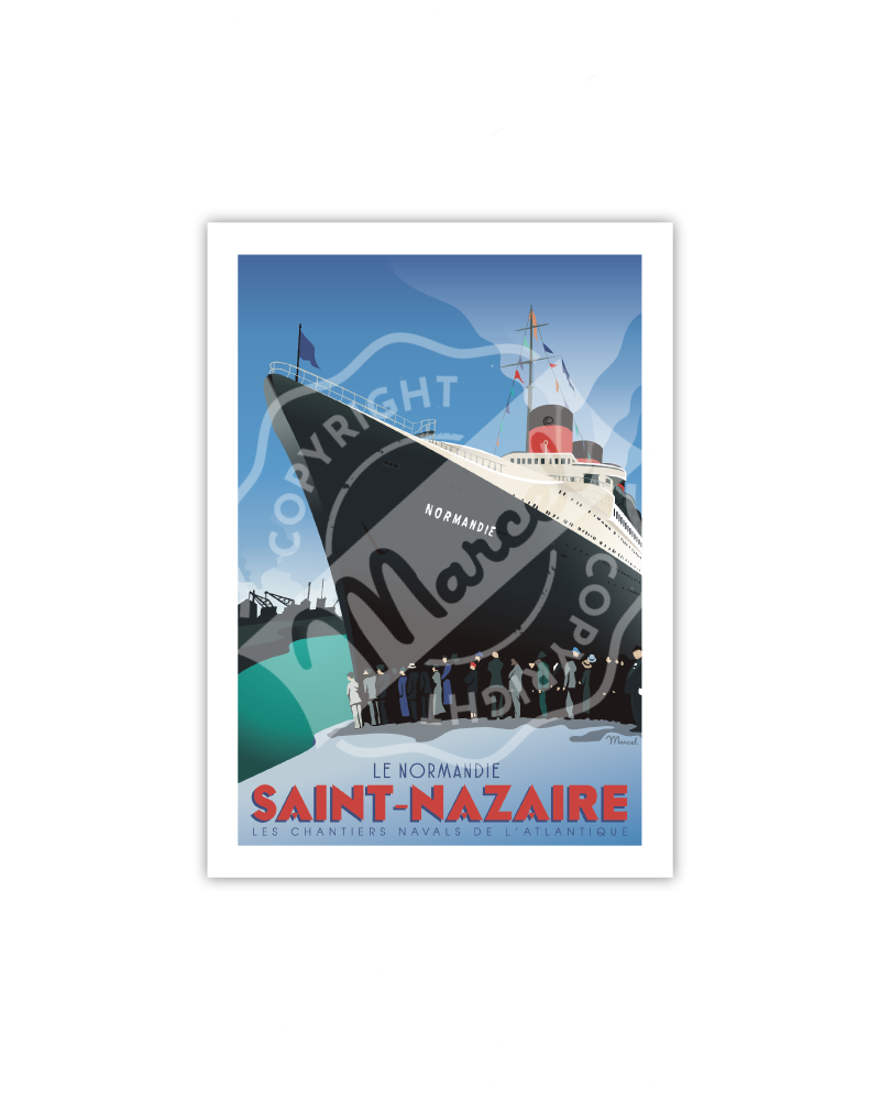 """Carte Postale SAINT-NAZAIRE  """"Le Normandie"""" A5"""