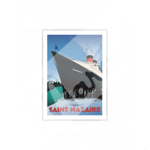 """Postcard SAINT-NAZAIRE  """"Le Normandie"""" A5"""