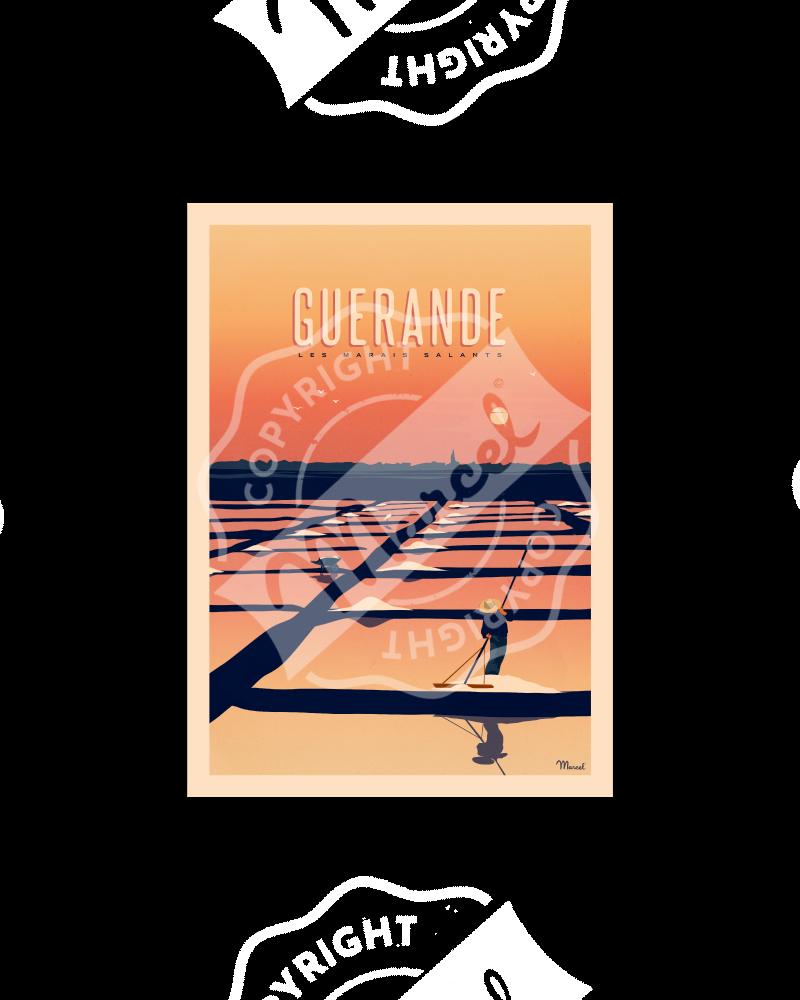 Postcard GUERANDE MARAIS SALANTS A5