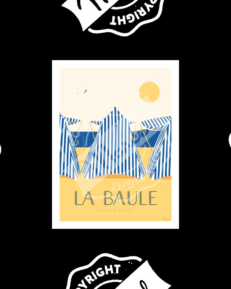 Carte Postale LA BAULE LES TENTES A5