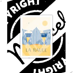 Postcard LA BAULE LES TENTES A5