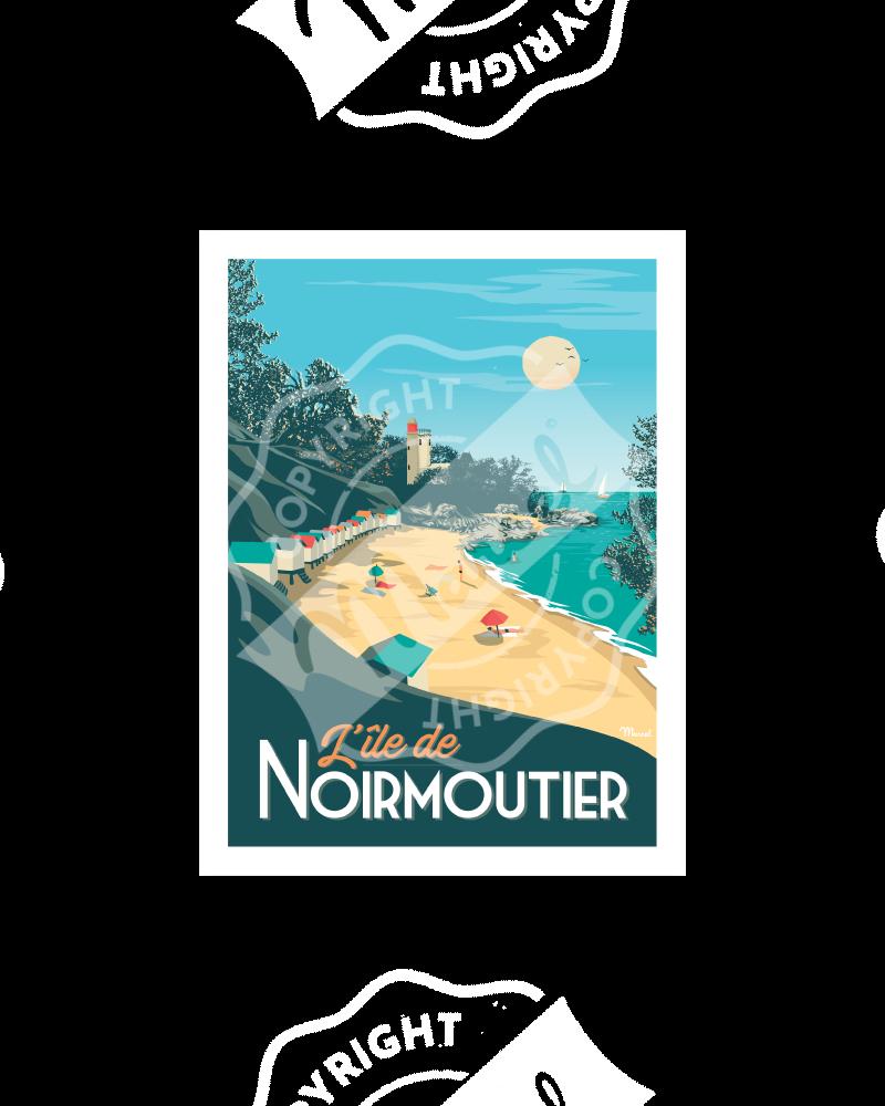 Carte Postale NOIRMOUTIER A5