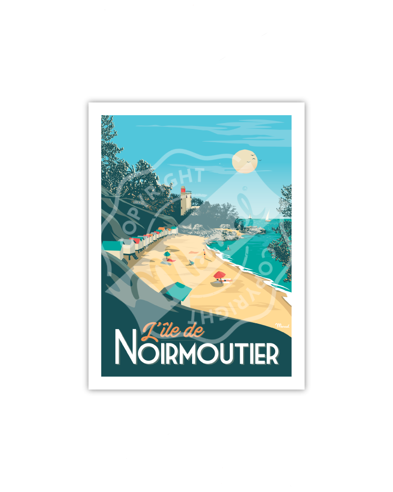 Postcard NOIRMOUTIER A5