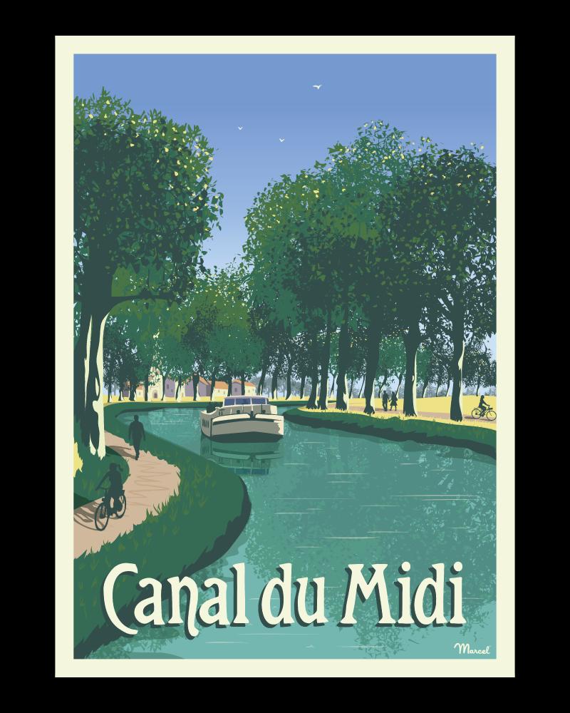 Affiche CANAL DU MIDI