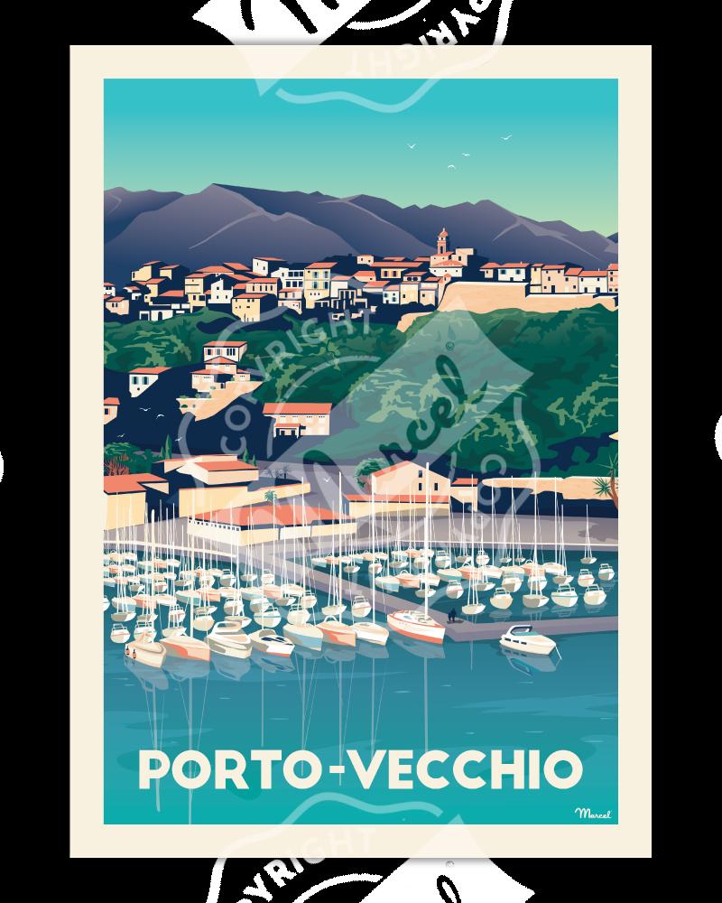 """Poster Porto-Vecchio """"Le Port"""""""