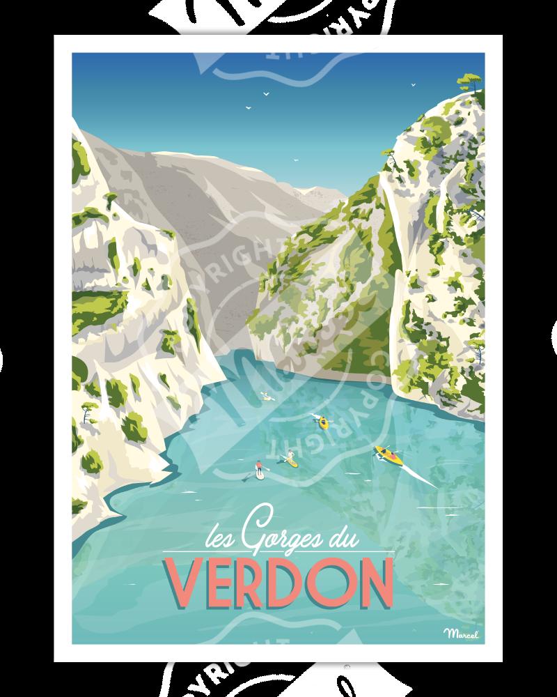 Poster LES GORGES DU VERDON