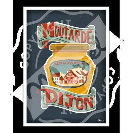 Affiche Moutarde de DIJON