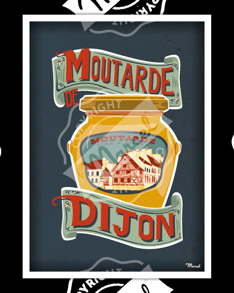 Poster Moutarde de DIJON