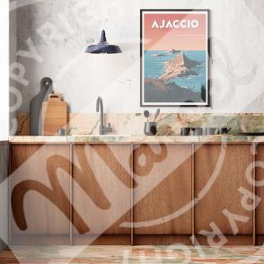 """Poster AJACCIO """" Les Îles Sanguinaires """""""
