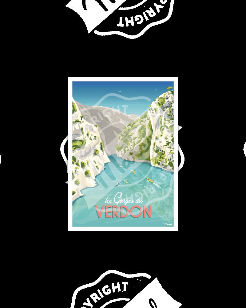 Postcard LES GORGES DU VERDON